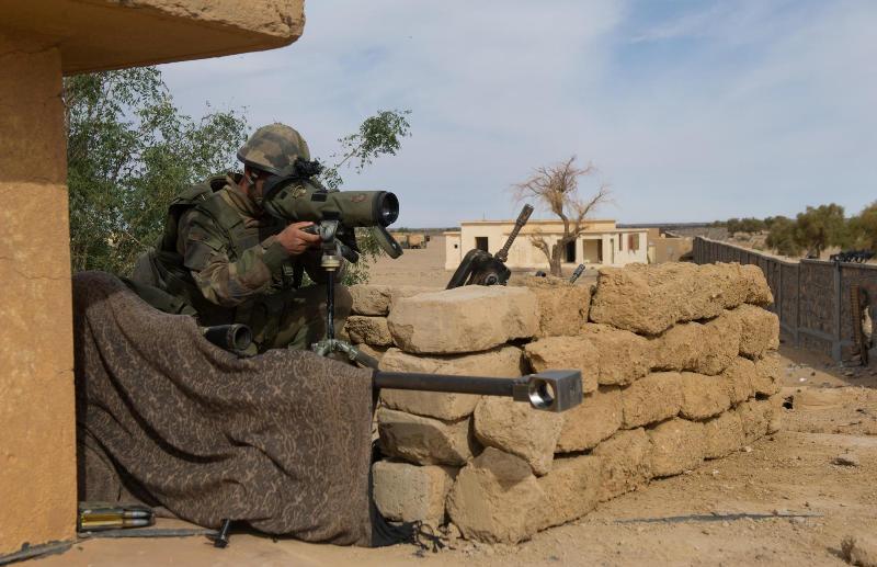 Equipo de tiradores avanzados desplegados durante la operación Serval. Imagen: Armée de Terre.