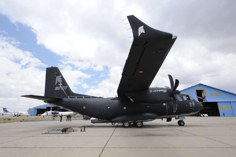 MC-27J Spartan en el aeropuerto paceño de El Alto, Bolivia. Imagen: Leonardo-Finmeccanica.