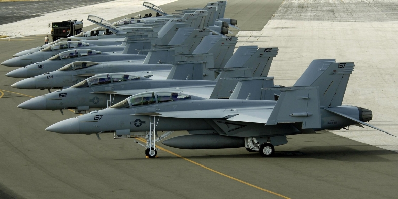 F-18F Super Hornet de la Armada norteamericana. Imagen: US Navy.