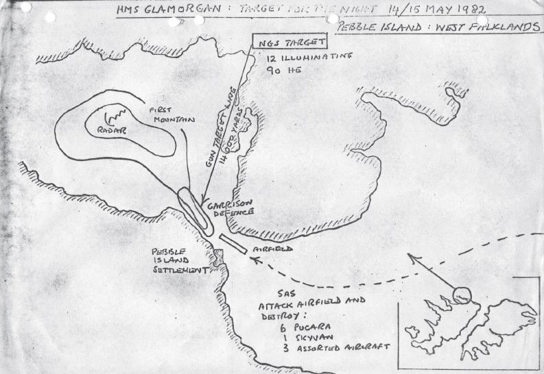 HMS Glamorgan, Operación Prelim.