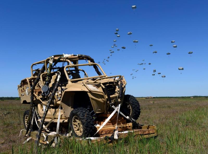 MRZR-4 de la 82nd Airborne Division durante su despliegue para el ejercicio Anakonda 2016. Imagen : US Army.