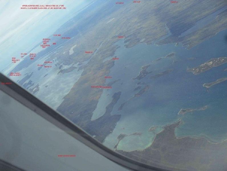 Operaciones SAS & SBS en el área entre el 17 al 21 de mayo. Foto Zona Militar, montaje el autor.