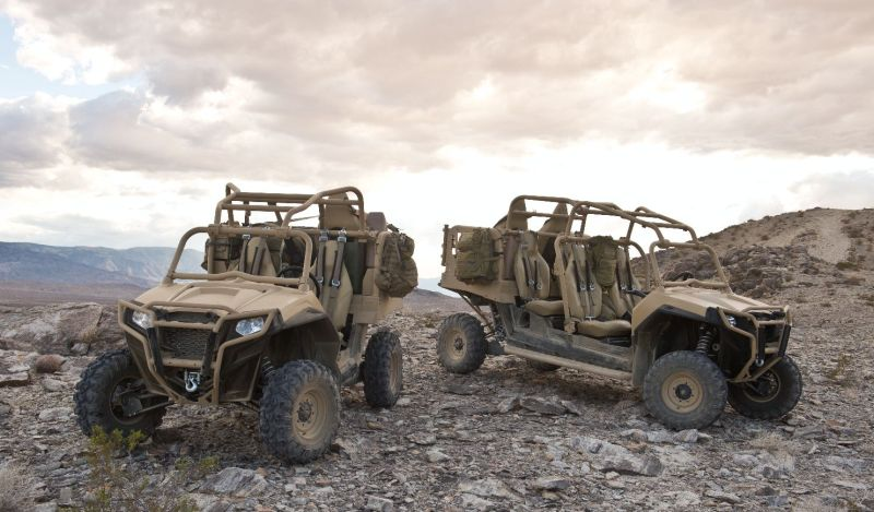 Prototipos del MRZR-2 y MRZR-4. Imagen: Polaris Defence.