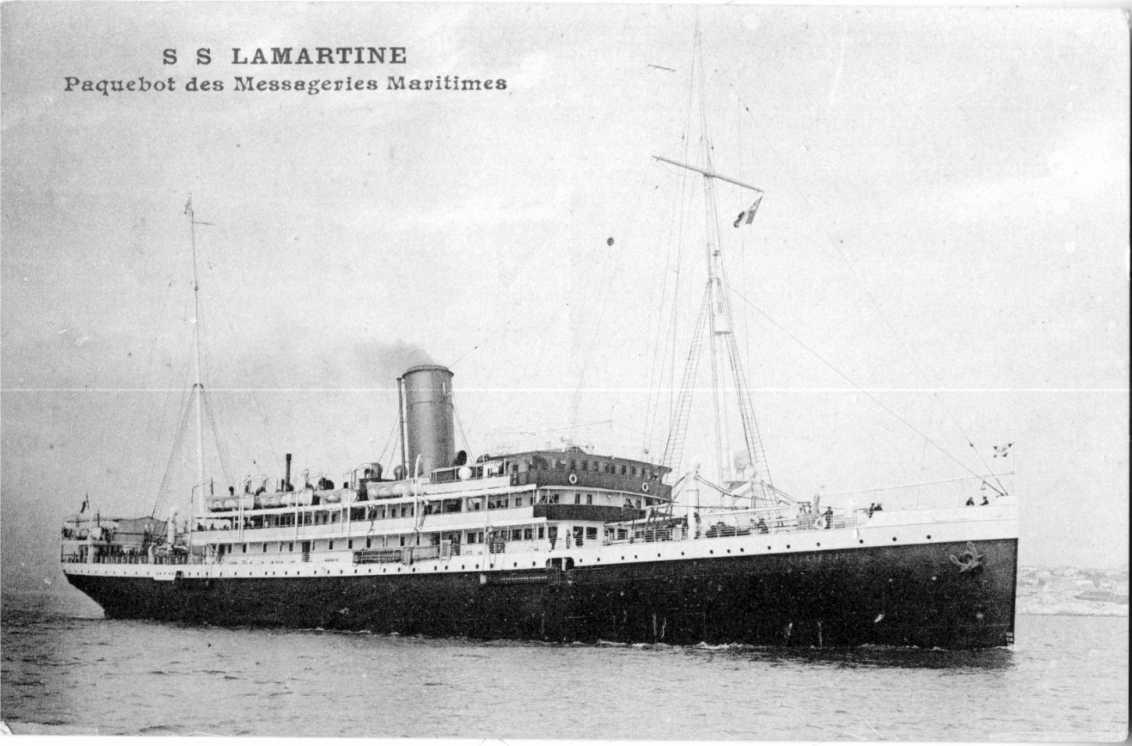 El emperador Alejandro I, luego Rebautizado Republicano, SS Lamartine y Khan Din, el porta hidroaviones de la Flota del Mar Negro de la Armada Imperial Rusa.