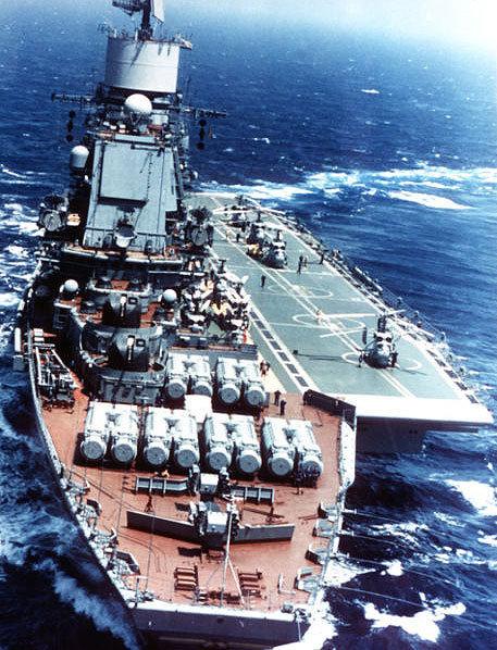 El Almirante Gorshkov, un proyecto 1143 Clase Kiev modernizado que recibió muchas de las mejoras que aparecerían en el proyecto de portaaviones 1143.5