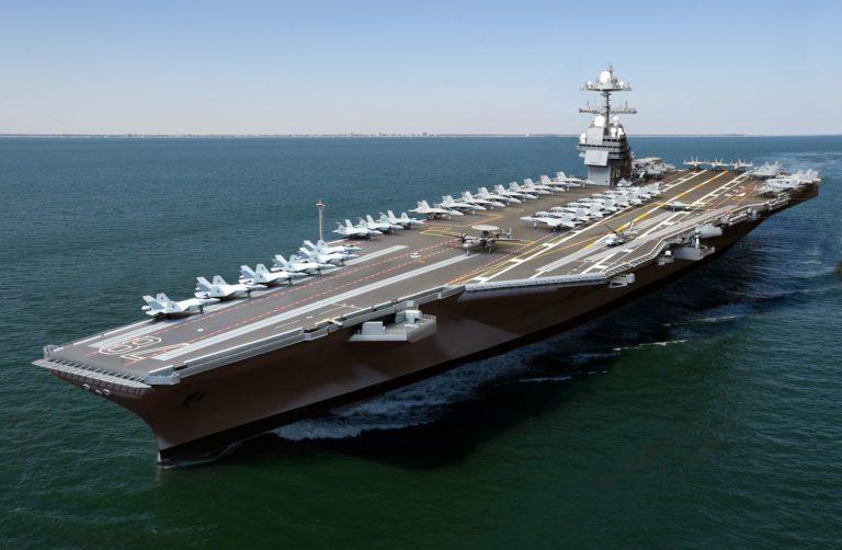 El próximo portaaviones de propulsión nuclear de la Armada de los Estados Unidos será lanzado en 2019