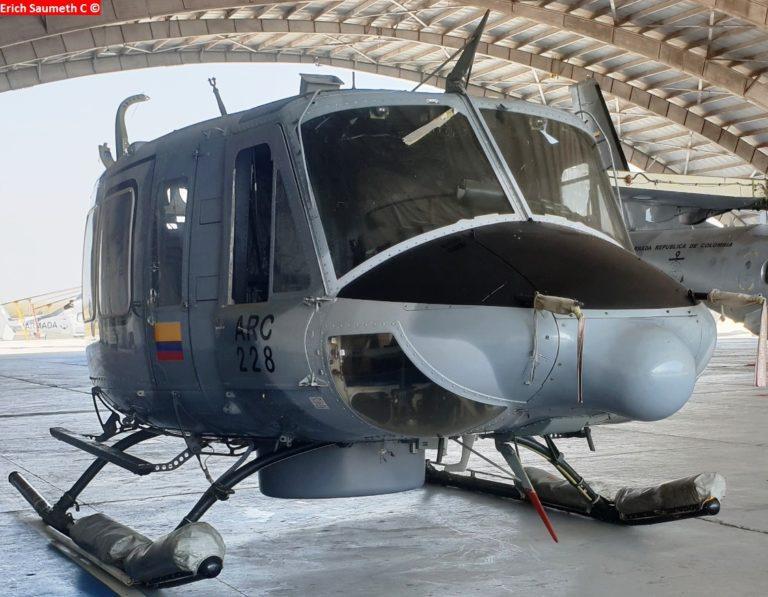 La Armada Colombiana (ARC) inicia trabajos de mantenimiento de su helicóptero Bell 412EP, el ARC 228