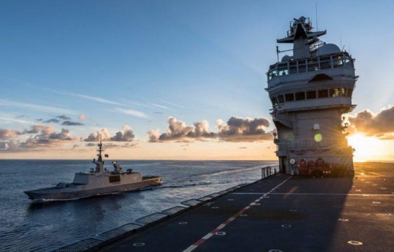 La Armada de Sudáfrica realiza ejercicio conjunto de desminado con la Marine Nationale