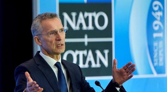El secretario general de la OTAN, Jens Stoltenberg, habla con la prensa en Washington, EEUU, el 4 de abril de 2019. REUTERS/Joshua Roberts/